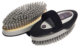<p>The soft fibre is impregnated with the KBF99 additive to give the brush its bacteria and fungus killing properties to assist in the prevention of infection and reinfection of various diseases, including strangles, ringworm, E.coli and mycotoxin. Ergonomically designed to be comfortable for the groom, with smooth lines and a soft textured outer casing it is as appealing to the touch as it is to the eyes. </p>