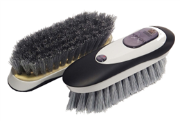 <p>The medium stiff fibre is impregnated with the KBF99 additive to give the brush its bacteria and fungus killing properties to assist in the prevention of infection and reinfection of various diseases, including strangles, ringworm, E.coli and mycotoxin. Ergonomically designed to be comfortable for the groom, with smooth lines and a soft textured outer casing it is as appealing to the touch as it is to the eyes. </p>