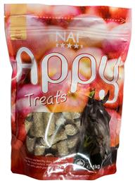NAF Appy Treats are a yummy, healthy, all-natural treat, made with real apple. They are very palatable, so your horse will love them. They can even be suitable for horses who are prone to laminitis. They come in a handy, resealable bag.