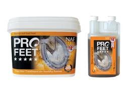 NAF Five Star ProFeet contain all the key nutrients necessary to support healthy hoof growth in your horse. It has been developed by vets & farriers to help treat & prevent against cracked, brittle feet.