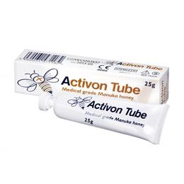 <p>Activon 25g Tubes contain 100% medical grade active manuka honey from New Zealand, that has been filtered & sterilised, so can be used to treat wounds under dressings. Active manuka honey has a number of antibacterial & healing properties. </p>