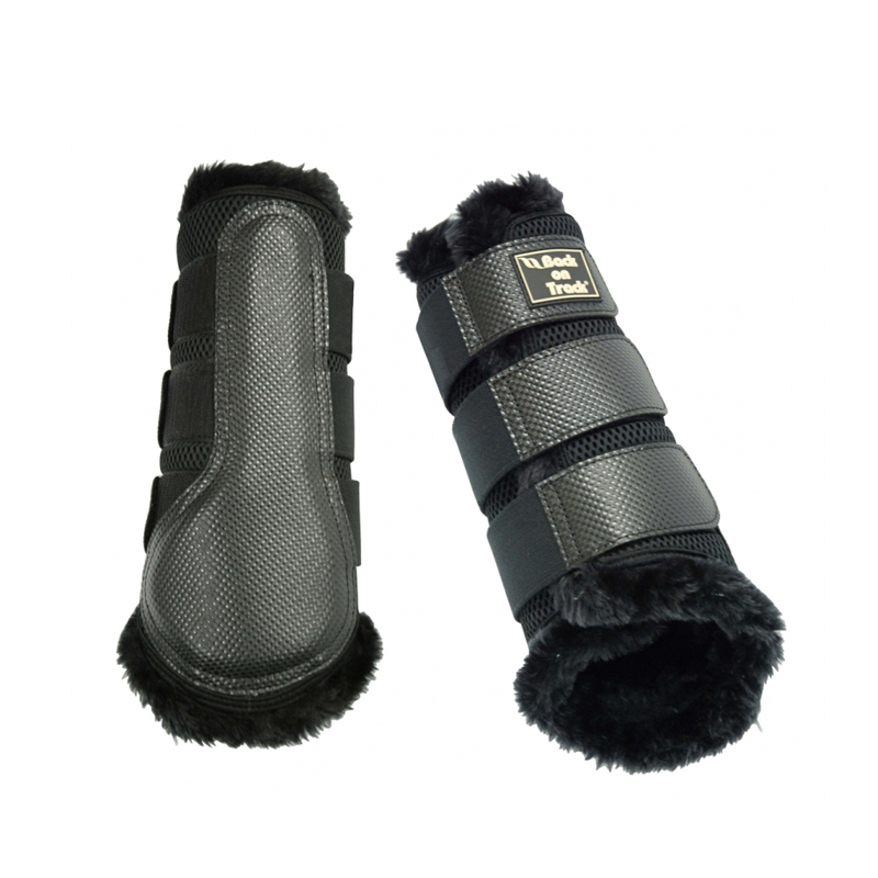 Back on Track 3D Mesh Fur Brush Boots - Pair