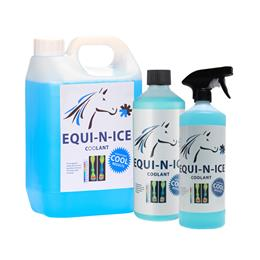 Equi-N-Ice Recharge Coolant is used to recharge Equi-N-Ice Bandages (sold separately). Simply soak them in approximately 80mls of Equi-N-Ice Recharge for 30 seconds & they?ll be ready to use again for 2 more hours.
