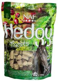 NAF Hedgy Treats are a yummy, healthy, all-natural treat, made with real hedgerow herbs. They are very palatable, so your horse will love them. They can even be suitable for horses who are prone to laminitis. They come in a handy, resealable bag.