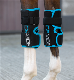 Horseware Ireland Ice Vibe Vibrating Therapy Knee Boots are a revolutionary product that cool & massage your horse's legs at the same. They can be used after exercise as a preventative or they can be used to treat tendon or ligament injuries or sprains.