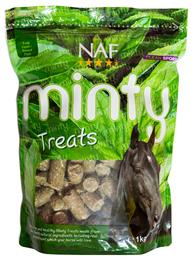 NAF Minty Treats are a yummy, healthy, all-natural treat, made with real peppermint. They are very palatable & smell delicious, so your horse will love them. They can even be suitable for horses who are prone to laminitis. They come in a handy, resealable bag.