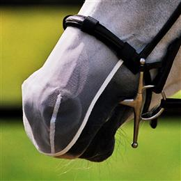 Equilibrium Net Relief Muzzle Nets are an effective product for decreasing the symptoms of headshaking. In clinical studies, 79% of headshaking horses showed an improvement when wearing the Muzzle Net. They are shaped to the top half of the muzzle.