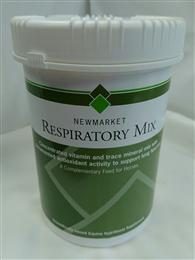 <p>Newmarlet Respiratpry mix is a complementary feed for horses. </p> <p>Newmarket respiratory mix is a concentrated vitamin and trace mineral mix with documented antioxidant activity to support lung function. It is a concentrated palatable formulation to give high doses of vitamins C and E together with trace elements with documented anti-oxidant activity. </p> <p><span></span> </p>
