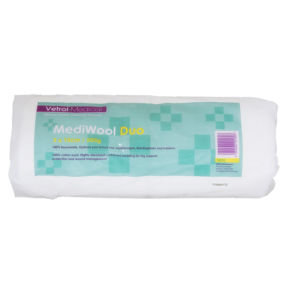 Vetrol MediWool Cotton Wool Split Roll (2 x 15cm) 500g