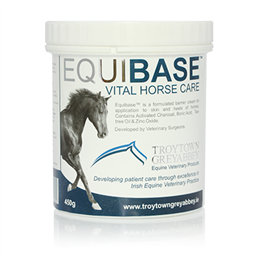 <p> 	Equibase is a high quality, very useful, wound & barrier cream, that has been developed by Ireland's top vets. It can be used to support healing in cases of mud fever & rain scald, as well as minor cuts, wounds & fly bites. It is antiseptic, antifungal & antiparasitic. </p>