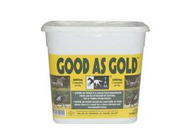 <p>Good As Gold is a calming supplement designed to be fed to nervous or stressed horses. </p>