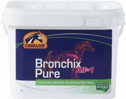 Cavalor Bronchix Pure All in One is a 100% natural supplement, formulated to soothe your horse's respiratory tract. It contains a blend of 20 specially selected herbs, including Chamomile & Juniper.