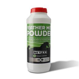 <p>Nettex Feather Mite Powder is a natural product containing Diatomaceous Earth, which effectively causes mites to dehydrate & die, by breaking down their outer layer. It should be applied directly onto your horse's or pony's feathers. </p>