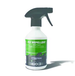Nettex Fly Repellant Standard gives up to 24hours protection against biting midges & flying insects. It contains high strength DEET, as well as moisturisers & conditioners; which means it is suitable for use in sensitive skinned horses & ponies too.