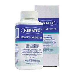 Keratex Hoof Hardener is scientifically proven in both shod & barefoot horses, to strengthen & protect hooves. It is recommended by both farriers & vets worldwide, as a leading hoofcare product.