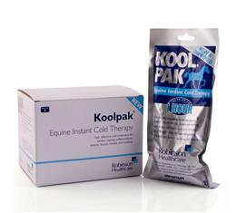 Robinsons Koolpaks are ideal for providing quick, effective cooling treatment to injuries, swellings, or simply after hard work. They don't need to be kept refrigerated & can be used instantly. They conform around your horse's leg & last for upto 1 hour.
