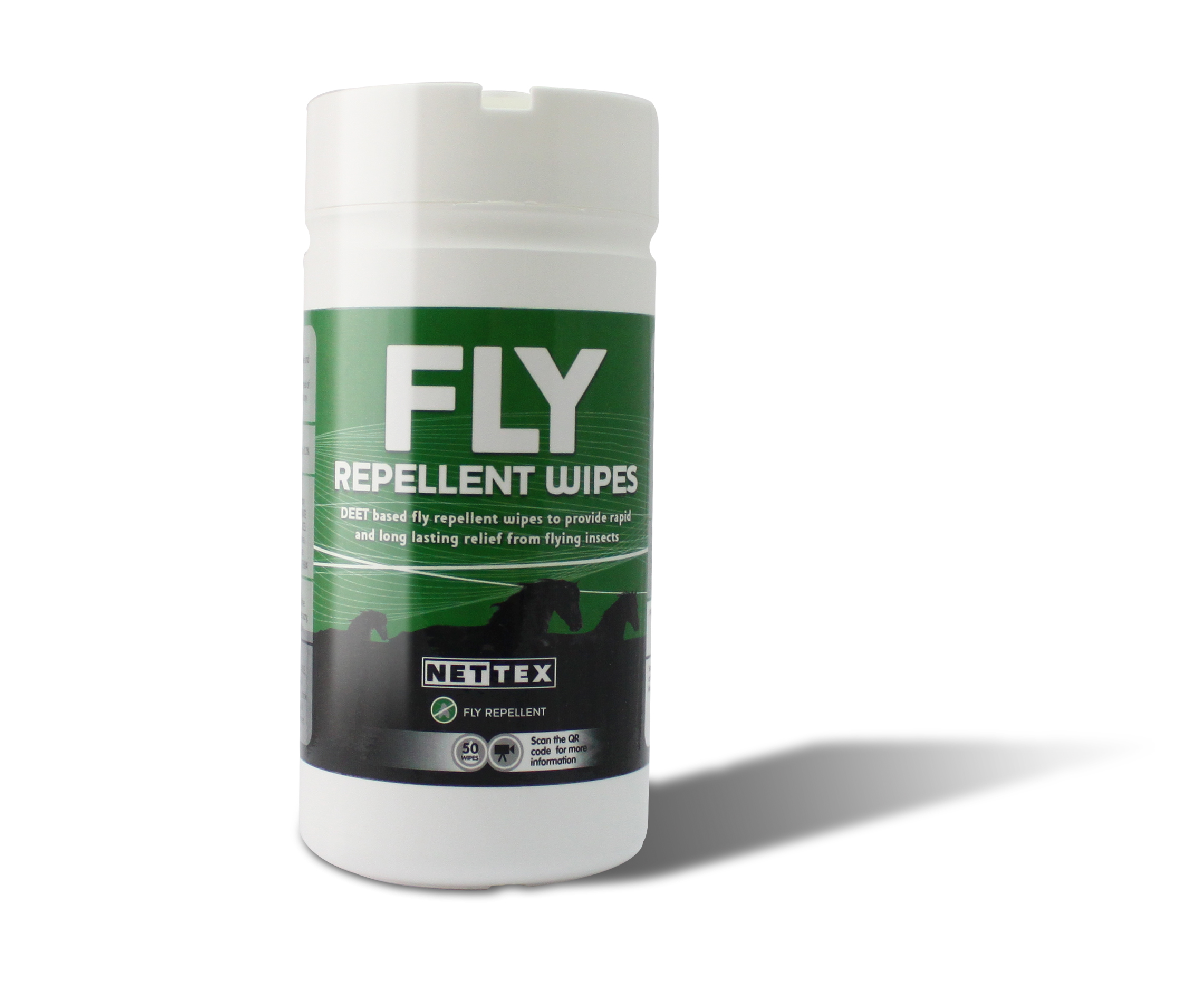 Nettex Fly Repellent Wipes, Pot of 50