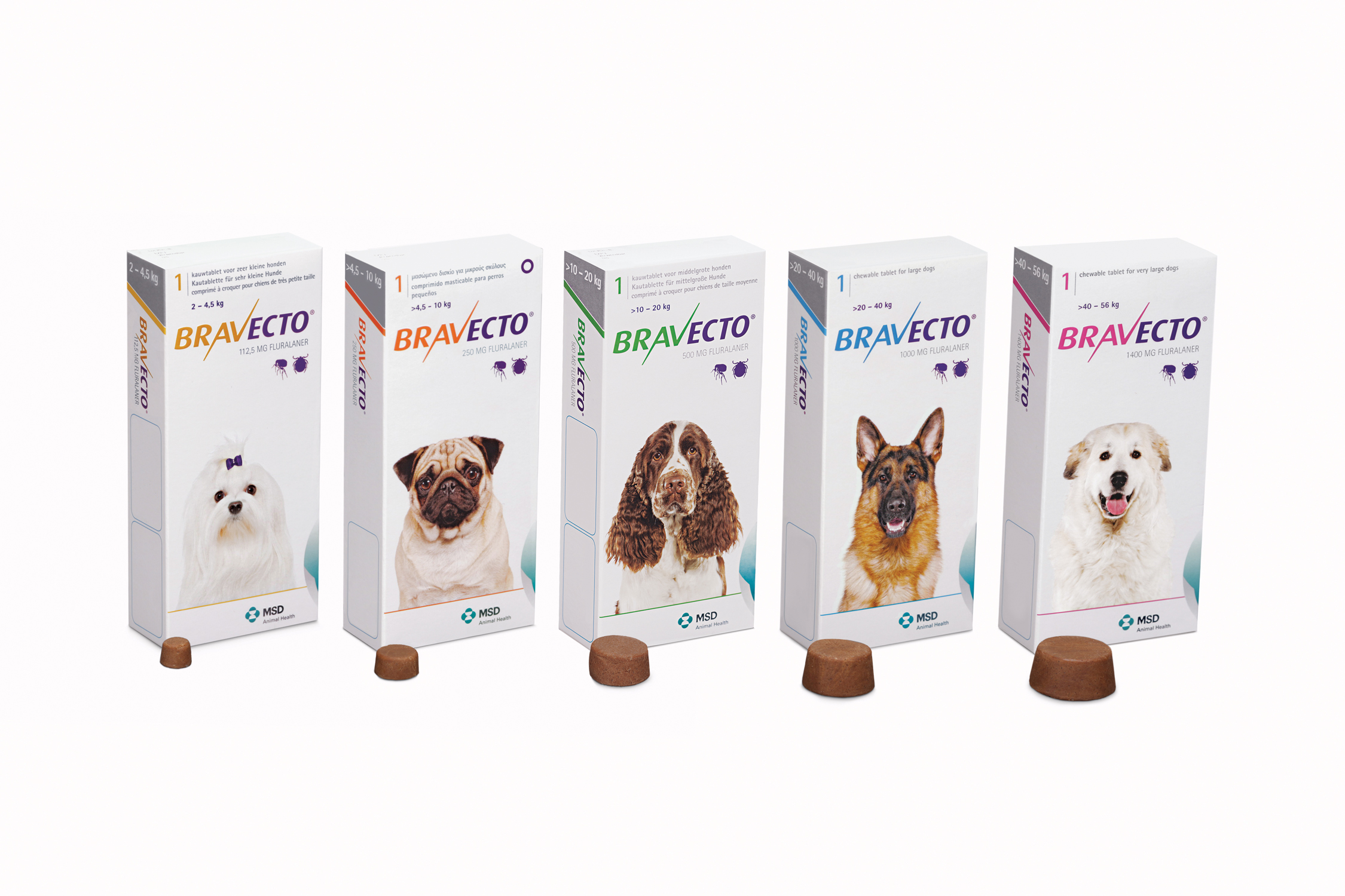 Bravecto Chewable Tablets 112.5mg for Very Small Dogs
