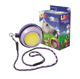 "The Likit Boredom Buster is a challenging toy that spins around on its horizontal axis. It takes two Little Likits (sold separately). It can be used by itself, or attached onto the ""Likit Holder"", to make a combination toy."