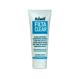 Aniwell FiltaClear is a totally clear, SPF 25 Sunblock cream, that also has antibacterial properties. As it is clear, it is ideal for use at events & shows.