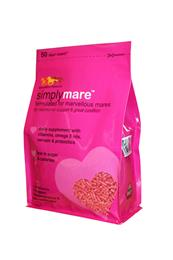 SimplyMare is a daily feed supplement, formulated to have your mare looking her best & feeling calm. It is low in sugars, starch & calories, so is non-heating.
