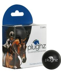Plughz Earplugs are made from lightweight, dense foam, that shapes comfortably to the ear.  They deaden the loud noises that your horse hears, helping them to relax & focus on the task at hand.