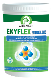 Ekyflex Nodolox is a nutritional supplement designed to support the musculoskeletal system. It is useful for both sport horses in work or horses suffering from arthritis.