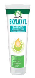 <p>Ekylaxyl is an arnica-based gel, formulated by Audevard, to apply to stiff muscles, knocks or bruising. </p>