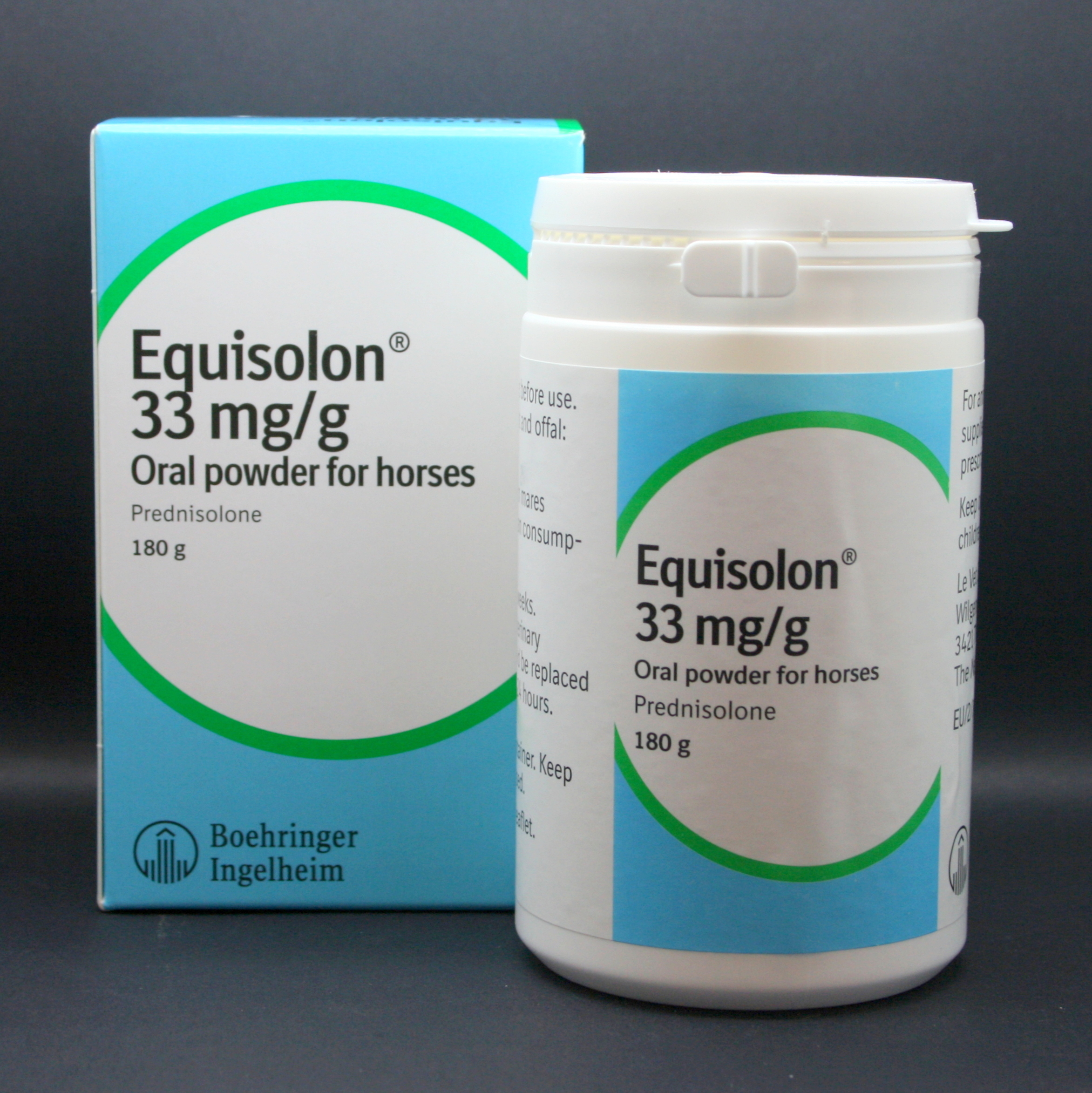 Equisolon 33 mg/g oral powder for horses 180g
