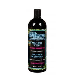 EQyss Micro-Tek Equine Shampoo is a soothing, yet cleansing shampoo, that is beneficial in cases of sweet-itch; rain scald; mud fever; insect bites & minor wounds. It helps to stop your horse from scratching & rubbing at irritated skin.