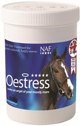 NAF Oestress contains effective herbal extracts, to support your mare's hormones throughout her oestrus cycle; as well as magnesium to promote calmness. It's also rich in antioxidants, to boost overall health.