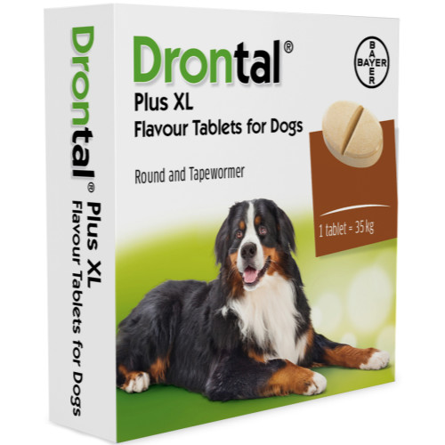 Drontal Plus XL Flavoured Worming Tablets for Large Dogs