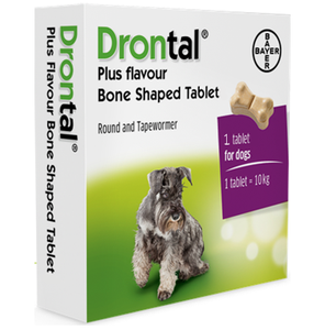 Drontal Dog Tasty Bone Worming Tablets