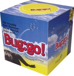 <p>Bug:go is a Rockie salt lick for horses and ponies that drastically reduces fly and midge bites, deters worm infection and boosts the immune system. In particular, it helps prevent sweet itch – an allergic reaction to insect bites that will affect most horses and ponies to some degree causing itching. </p> <p><br> </p> <p>Made from pure Cheshire Salt. </p>