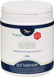 <p>Protexin Gut Balancer is a palatable prebiotic & probiotic powder, ideal for improving the efficiency & function of your horse's digestive tract. It can be used in all horses to promote general wellbeing & can help if they are prone to digestive upsets. </p>
