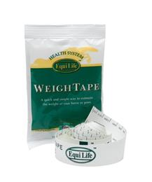 <p>Equilife Weigh Tape is an ideal way to estimate your horse or pony's weight, enabling you to give the correct dose of wormer or medication. It can also be really useful as part of a weight loss or weight gain program. </p>